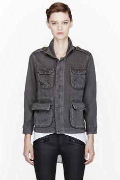 CURRENT/ELLIOTT Grey Lone Soldier Jacket