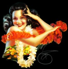 Pin-up girl - by: Billy De Vorss -- De Vorss created lush and vibrant pin-ups, often inspired by New York's theatres and nightclubs.   (My favorite pin-up artist --  Hey, I'm a New York gal...gotta love   De Vorss)