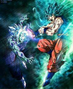 DBS Goku ssjblue vs fused zamasu
