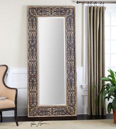 uttermost abelardo wood frame mirror home decor wall mirror vanity