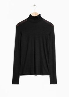 & Other Stories image 1 of Basic Wool Turtleneck in Black