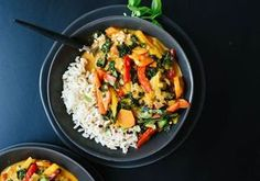 Légumes au curry Weight Watchers, recette d'un délicieux curry de légumes au lait de coco, un plat très facile à préparer pour un repas léger et rapide.