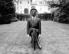 Man in the hat. In the garden.