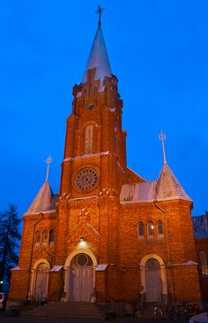 Church of Kristiinankaupunki Urban Pictures, My World, Finland, Barcelona Cathedral, The Neighbourhood, City, Building, Travel, Pearls
