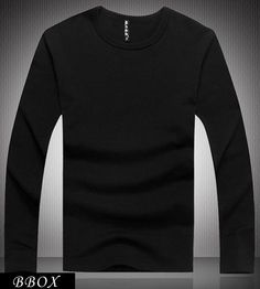 Wholesale T-Shirts - Buy HOT Autumn Winter Men's Clothing Men's Slim Fit Solid Color Stylish Crew Neck Cotton Long Sleeve T-shirts Tee Tops 4 Size BBox, $8.44 | DHgate