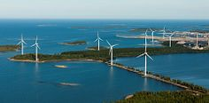 Wind farm in Raahe.Northern Ostrobothnia province of Finland  - Pohjois-Pohjanmaa