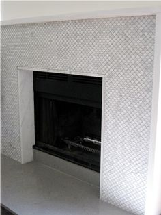 gray tile, marble lining