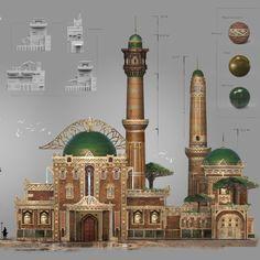 The Hivergorgons - House Design, Mauro Cerati on ArtStation at https://www.artstation.com/artwork/30Bkg