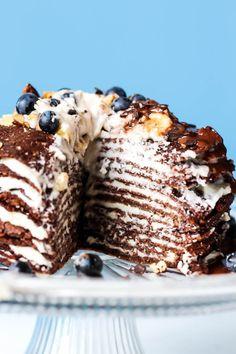Vegan & Gluten-Free Chocolate Crepe Cake | Emilie Eats