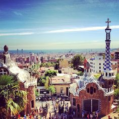 Park Guell in Barcelona, Cataluña