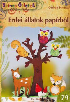 Színes ötletek- Erdei állatok papírból - Klára2 Kovács - Álbuns da web do Picasa