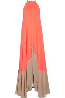 Saloni Iris georgette maxi dress | NET-A-PORTER
