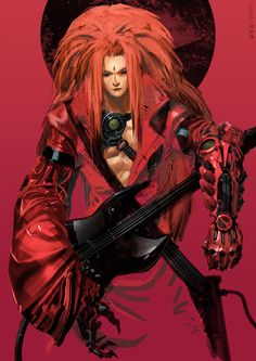 Kei Borg Guitarist by NuMioH on DeviantArt Character Creation, Character Concept, Character Art, Character Design, Concept Art, Character Ideas, Cyberpunk Rpg, Cyberpunk Character, Monster Characters