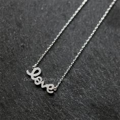 Love Necklace/ sterling silver necklace/ Women's by MissDiary