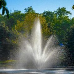 Scott Aerator Triad Pond Fountain  #scottaerator #pondfountain Pond Fountains, Gallon Of Water, Concrete Blocks, Water Features, Waterfall, Yard, Gardens, Outdoor, Products