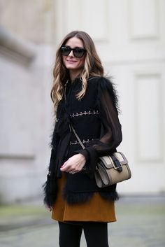 How To Dress Like A French Girl #refinery29  http://www.refinery29.com/63682#slide-11  Olivia Palermo proves that sheer sleeves add just the right amount of sexy to a daytime look.