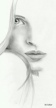 Portrait Drawing Image detail for -Woman face Sketch by ~lanfear-chess on deviantART - Portrait Au Crayon, Pencil Portrait, Pencil Art Drawings, Drawing Sketches, Drawing Faces, Sketching, Drawing Ideas, Drawing Women Face, Half Face Drawing