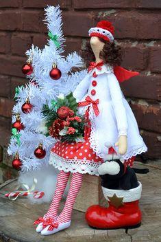 Tilda doll. Christmas fairy. Handmade doll. Home by OksanaGryts