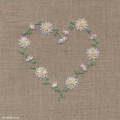 Daisy Chain Heart #embroidery
