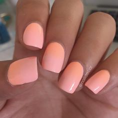 neon peach nails @naildecor (floss gloss- pony + colour club- hot hot hot pants) | #nail polish / lacquer