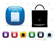 Paper Bag Icon Set