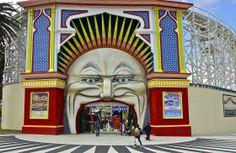 Entrance; Luna Park; Melbourne, Australia.  January 2014.