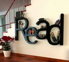 Alternative: Could make your own by buying the letters and mounting together and using as a wall decoration in a library or on bookshelf.