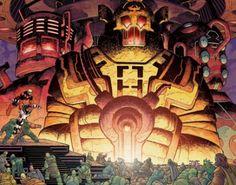 Celestials - Marvel Universe Wiki: The definitive online source for Marvel super hero bios. Marvel Characters, Marvel Heroes, Marvel Dc, Marvel Comics, Comic Book Artists, Comic Books Art, Comic Art, Neil Gaiman, Comics Universe