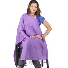 Deep Purple Pure #Kashmiri Designer #Scarf Stole 104