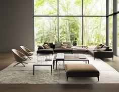 アルフレックス 2018年新製品 ソファ&ラウンジチェア 紹介 - インテリア情報サイト Office Sofa, Bright Art, Outdoor Furniture Sets, Outdoor Decor, Family Room, Dining Chairs, Loft, Lounge, House Design