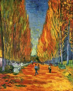 The Path at Les Alychamps / Vincent van Gogh - 1888