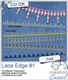 #lace #edge #1 - #Font #fontspiration