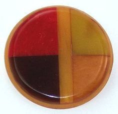 Vintage Inlaid Bakelite Button