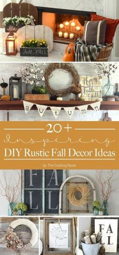 If you are looking for some inspiration to start decorating your home for Fall, you definitely gotta check out these DIY Rustic Fall Decor Ideas!!!! by elvia