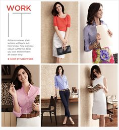 Work it. Achieve summer style success without a suit. Here's how: New workday casual outfits that keep you cool and confident all season long. Shop Stylish Work.