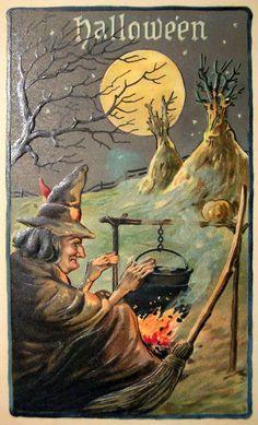 🍁 🎃 Affiches d'halloween vintage 🦇 Diy Halloween, Vintage Halloween Images, Halloween Prints, Halloween Pictures, Holidays Halloween, Happy Halloween, Halloween Decorations, Halloween Witches, Halloween Artwork