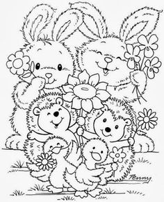 sweet animals Make your world more colorful with free printable coloring pages from italks. Our free coloring pages for adults and kids. Easter Coloring Pages, Cute Coloring Pages, Colouring Pics, Printable Coloring Pages, Adult Coloring Pages, Coloring Pages For Kids, Coloring Sheets, Coloring Books, 365 Kawaii