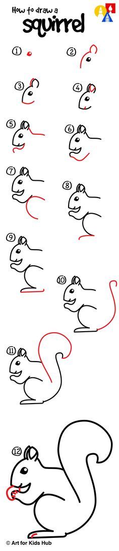 Learn how to draw a squirrel.                                                                                                                                                                                 More