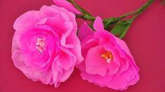 kwiatki z bibuły - YouTube