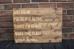 "Wooden Sign- Pallet Art: ""Home"""