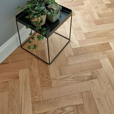goodrich natural oak flooring, info on website for how to lay tongue and groove in a herringbone pattern
