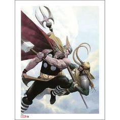Marvel Thor & Loki Signed Giclee Print (Esad Ribic Signed & Numbered Limited Edition) £39.99