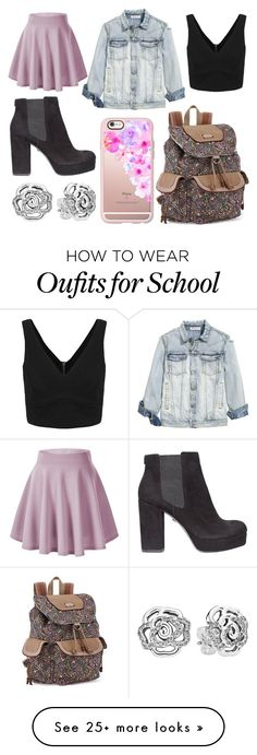 """School Day"" by susanna-trad on Polyvore featuring KG Kurt Geiger, Sakroots, Casetify and Pandora"