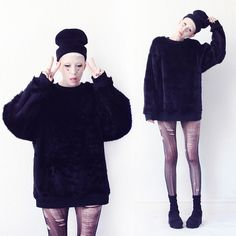 Somewhere Nowhere  Faux Fur Sweater