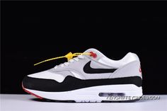 b6559597be31 Nike Air Max 1 Anniversary White And Dark Obsidian New Year Deals