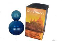 "EGIDIO COSTANTINI,For UNICEF MURANO VASE + ORIGINAL BOX! A blue blown glass vase with spherical closure, 1991.Engraved \""De Majo Murano Egidio Costantini 1990 for UNICEF  Vase Dimensions: H= 12 inches H= 31 cm. Box Dimensions:  15 inches H x W 8 Inches 38 cm H x W 21 cm Vase is in boxed condition."