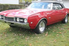 1968 OLDS CUTLASS - S CONVERTIBLE I was obsessed at age 10-16 with my brothers blue convertible Cutlass.