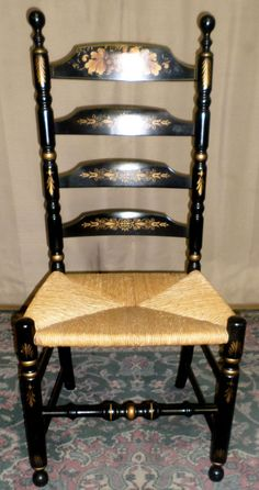 Antique Ladder Back Chairs With Rush Seat Ladder Back