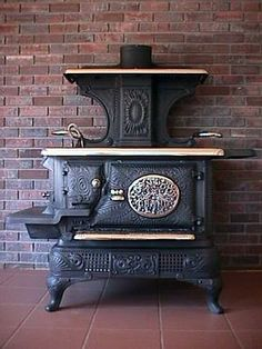 circa 1895 cast iron stove (especially if this is a working one---maybe for the basement for emergencies)
