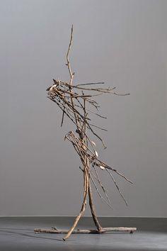 GIUSEPPE PENONE Pelle di Foglia, Sguardo,mano respiro, 2006 Bronze 86 5/8 x 5